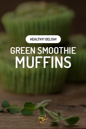 Healthy Green Smoothie Muffins