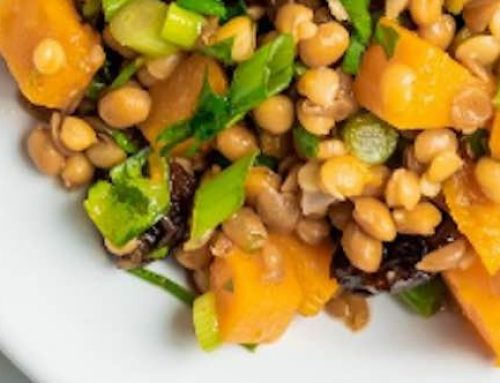 Lentil Salad With Maple Roasted Squash