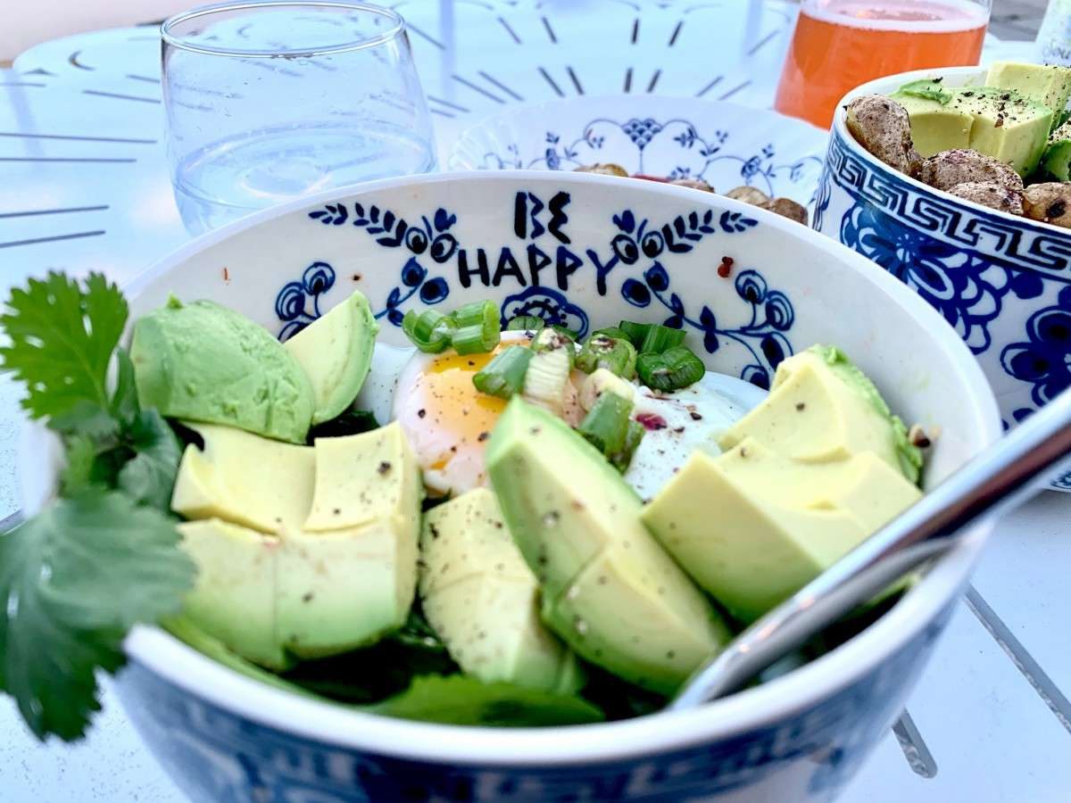 keto and exercise bowl of chopped avocado